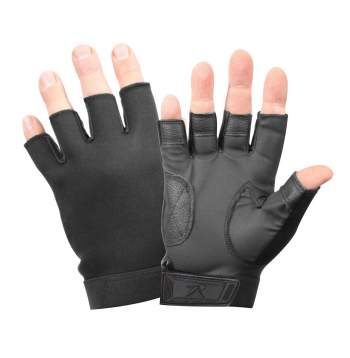 Fingerless Stretch Fabric  Duty Gloves