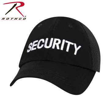 Security Mesh Back Tactical Cap - Black