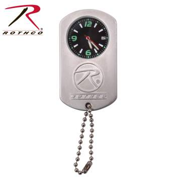 Silver Dog Tag Watch