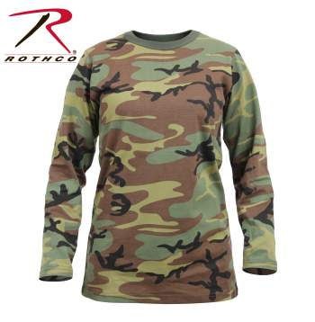 Womens Long Sleeve Camo T-Shirt