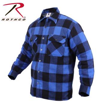 Extra Heavyweight Buffalo Plaid Sherpa Lined Flannel Shirts