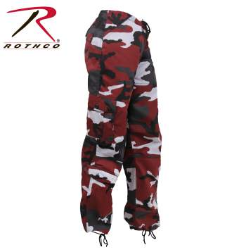 Womens Paratrooper Colored Camo Fatigues