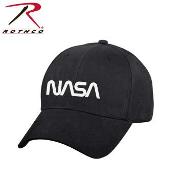 NASA Worm Logo Low Profile Cap - Black