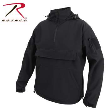 Concealed Carry Soft Shell Anorak - Black
