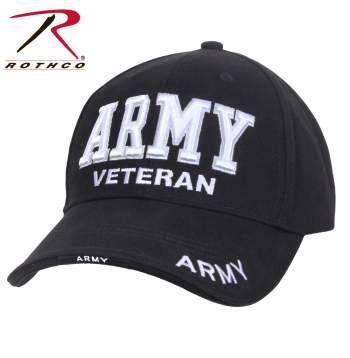 Deluxe Low Profile Military Branch Veteran Cap
