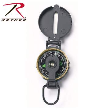 Lensatic Metal Compass