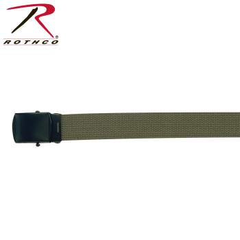 Military Web Belts With Black Buckle
