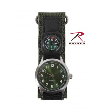 Watch With Compass-Olive Drab