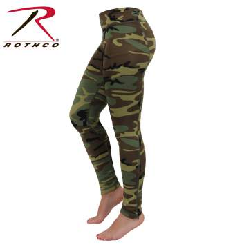 Womens Camo Performance Workout Leggings