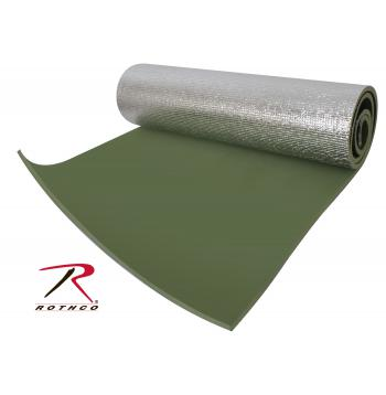 Thermal Reflective Od Sleeping Pad W/ Ties