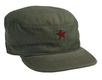 Vintage Style Fatigue Cap w/ Red Star