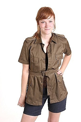 Women's Short Sleeved Safari Shirt - Italy