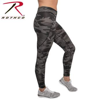 Womens Camo Workout Performance Shorts