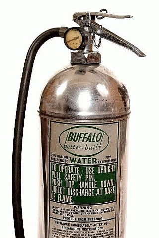 Fire Extinguisher Brass Vintage