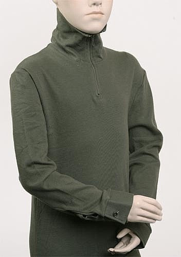 French Military Zipper Turtleneck Thermal