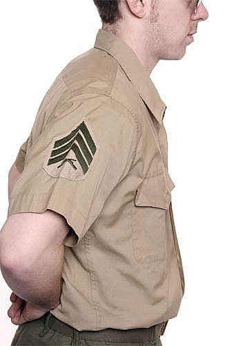 Vintage US Marine Dress Shirt -  Short Sleeve