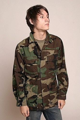 Men's Vintage US Army Woodland BDU Shirt/Jacket - Ripstop