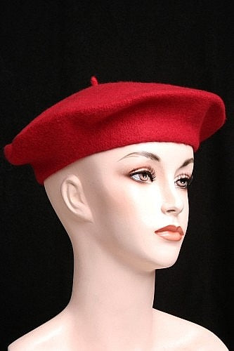 Wool Basque Beret Red