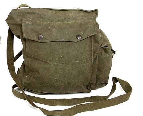 Canadian Gas Mask Bag w/Strap