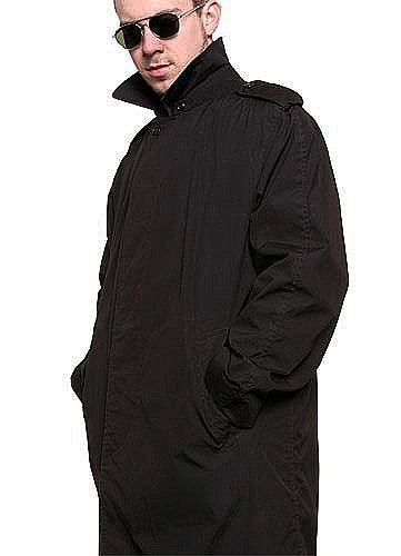 Black Military Trench Coat - U.S.A.