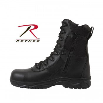8 Inch Forced Entry Tactical Boot With Side Zipper & Composite Toe