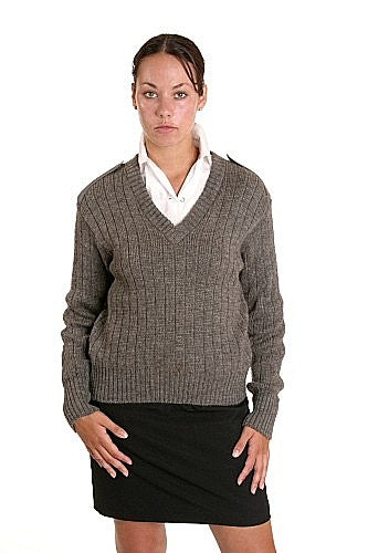British Army Commando Ribbed Grey Sweater