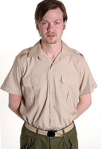 Beige Army Dress Shirt, short sleeves - Canada