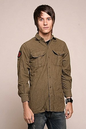 Vintage Army Tropical Wool Field Shirt
