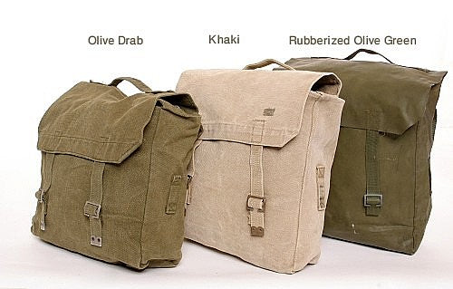 Danish Army Web Backpack rubber olive