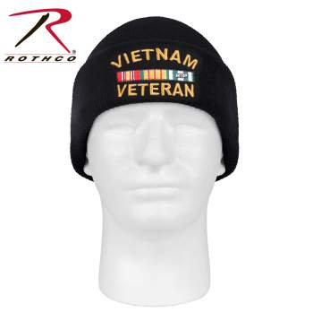 Vietnam Veteran Deluxe Embroidered Watch Cap