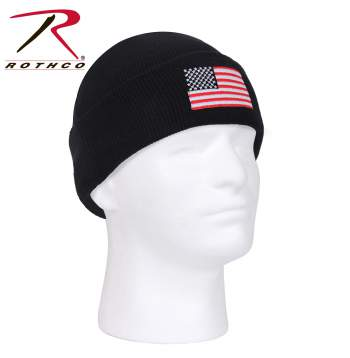 US Flag Embroidered Watch Cap