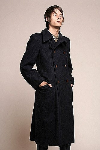 Hungarian Men's Wool Overcoat