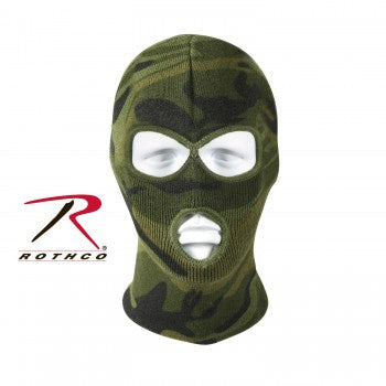 Deluxe Camo 3-Hole Face Mask