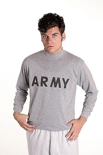 US Army PT Shirt Long Sleeve - VINTAGE - U.S.A.