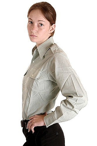 Womens US Army Officers Long Sleeve Shirt