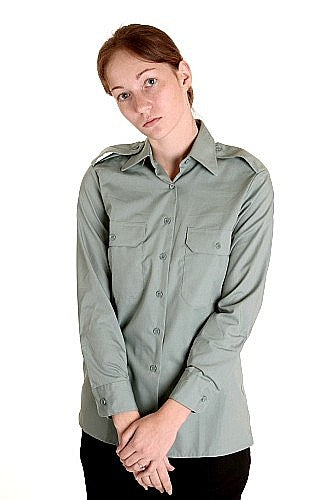 W  CF Work-Dress Officers Shirt LS