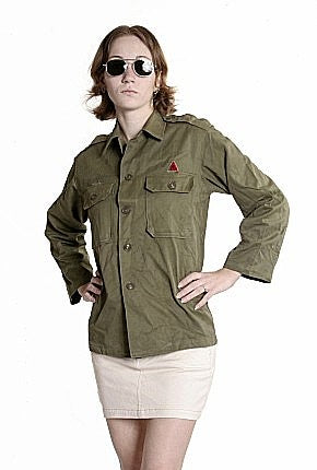 W  1950 Vintage Fatigue Shirt HBT