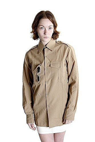 W  Italian Army Officer Shirt-New