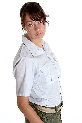 Women's AirForce Dress Shirt Short Sleeved