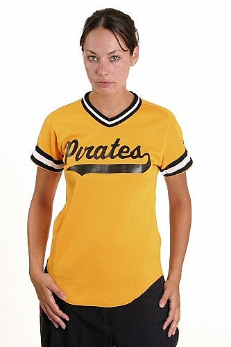 W  Baseball Shirt Yellow w-Black Trim