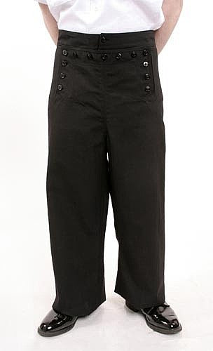 13 BUTTON NAVY SAILOR PANT
