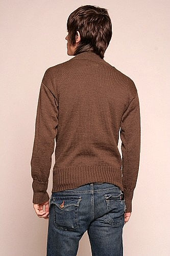 Mens 5 button wool jeep sweater - U.S.A.