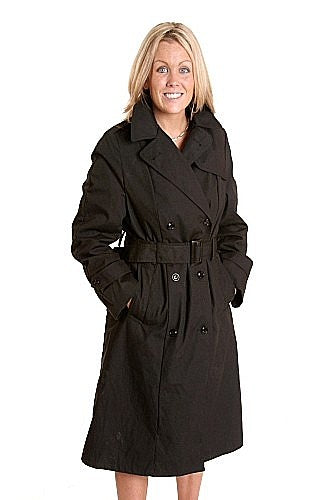 Women's double Breasted Trench Coat - Vintage- US
