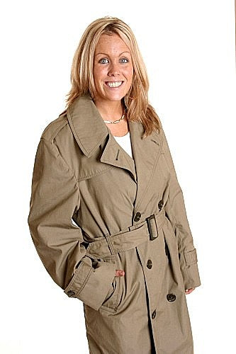 USMC  Spy Trench Coat-Lined Double Breasted - U.S.A.
