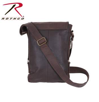 Brown Leather Military Tech Bag