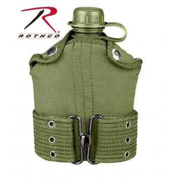 G.I. Type Plastic Canteen & Pistol Belt Kit