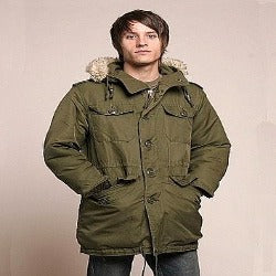1 Piece Canadian Combat Parka With Hood