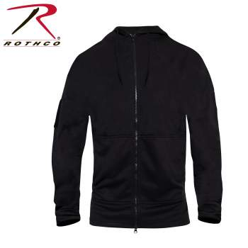 Concealed Carry Zippered Hoodie - Black