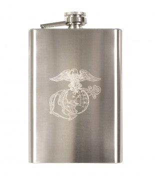 Engraved USMC Stainless Steel Flask