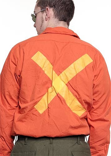Orange Construction Shirt